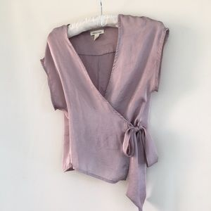 Silence & Noise UO silky Lavender Cross Over Top